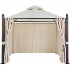 Комплект плотных штор, для шатра 3х3/2,7х2,7м, на петлях, Black out, бежевые