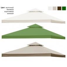 Крыша двойная для беседки с клапаном 3х3 см с окантовкой