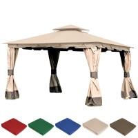 Комплект плотных штор для шатра 300Д 3х4м светло-кофейный с темным низом