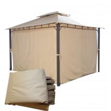 Комплект плотных штор для шатра 300Д 3х4м светло-бежевый