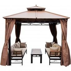 Беседка Амели с диванами и столиком 3х3м