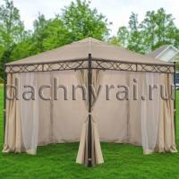 Беседка Грация 3х3 м плотные шторы и москитная сетка