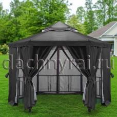 Беседка шатер Нью-Йорк Д 3,5м с барным столом серый