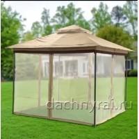 Беседка шатер Марго 3 х 3 м с москитными сетками