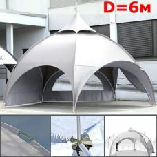 "Шатер павильон ""Dome"" со стенками 6м, арочный, белый"