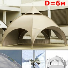 "Шатер павильон ""Dome"" со стенками 6м, арочный, бежевый"