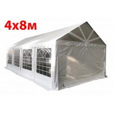 Шатер павильон 4х8 м с прозрачнымПВХ фронтом