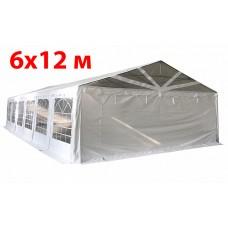 Шатер павильон 6х12 м с прозрачнымПВХ фронтом