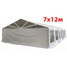 Шатер павильон 7х12 м с прозрачнымПВХ фронтом