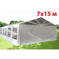 Шатер павильон 7х15 м с прозрачнымПВХ фронтом