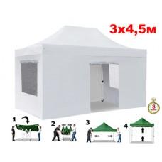 Быстросборный шатер автомат 4335 Helex, 3х4,5м, белый
