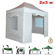 Быстросборный шатер автомат 4320 (Helex) 2х3м белый