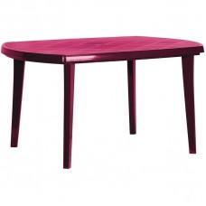 Стол садовый , пластик, цвет бордо