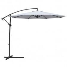 Зонт дачный 3 м серый подвесной на подставке