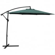 Зонт дачный 3 м зелёный подвесной на подставке