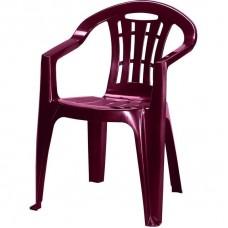 Кресло садовое 560x790x580 мм, пластик, цвет бордо