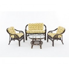Комплект мебели: диван, 2 кресла, стол