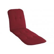 Подушка для шезлонга бордовая