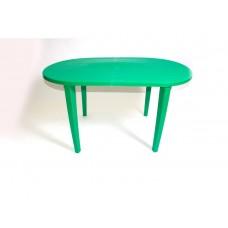 Стол пластиковый овальный зеленый