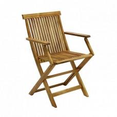 Садовый деревянный стул FINLAY с подлокотником, акация, складной