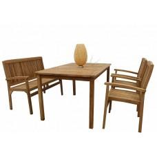 Комплект садовой деревянной мебели BALI TGF-165/087/150, тик