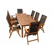 Комплект обеденной садовой деревянной мебели COMPLIMENT, акация из Малайзии