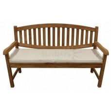 Садовая деревянная скамья LION TGF-029 B с подушкой, 150см, тик