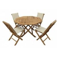 Комплект садовой деревянной мебели OCTAGONAL FULL COMFORT TGF-037/001FC, тик