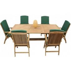 Комплект обеденной садовой деревянной мебели на 6 персон TGF