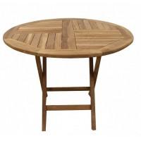 Садовый деревянный складной стол TGF-016 C, 100 см, тик