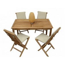 Комплект садовой деревянной мебели TGF-052/001FC, тик