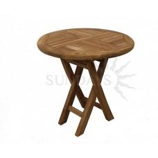 Садовый деревянный складной мини-стол TGF-057, 50*50см, тик