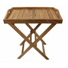 Садовый деревянный складной столик с лотком TGF-207
