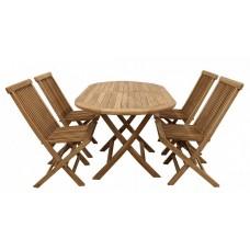Комплект садовой деревянной мебели TGF-221/001, тик