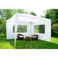 Быстросборный шатер автомат Люкс 3х3 белый, 2 стенки с окном