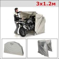 Раздвижной гараж Улитка 3x1.2M серый