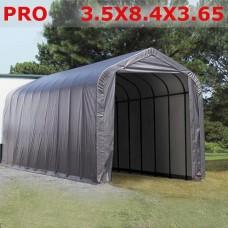Тентовый гараж ангар 3.5X8.4X3.65 PRO 600 серый
