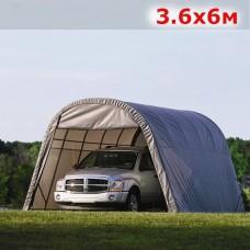 Тентовый гараж 3.6X6M серый