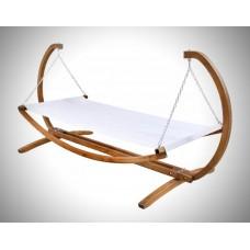 Подвесной гамак деревянный одноместный с подушкой