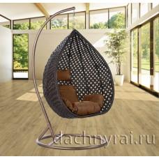 Плетеное подвесное кресло для двоих (109A) 134х135х80 см