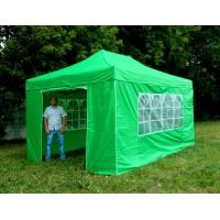 Шатер гармошка Классик 3х4,5м, зеленый, 4 стенки