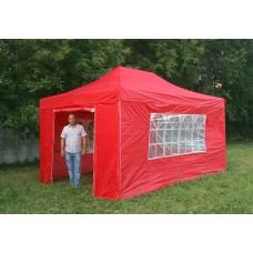 Шатер гармошка Классик 3х4,5м, красный, 4 стенки