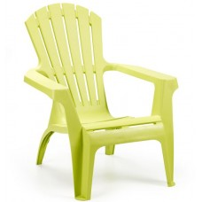 Кресло пластиковое лаймовое, 75х91х86 см