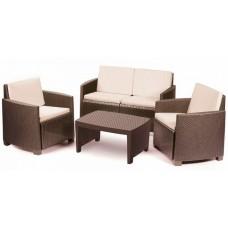 Комплект мебели коричневый, с подушками