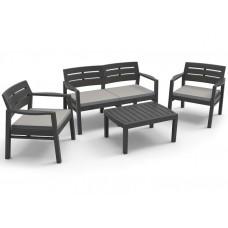 Комплект мебели чёрный, с подушками