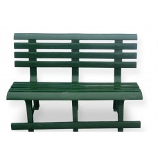 Скамейка пластиковая, зеленая
