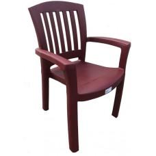 Кресло пластиковое  бордовое, 50х58х90 см