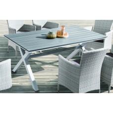Алюминиевый стол AROMA 150 см светло-серый