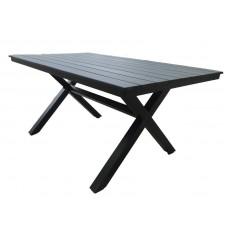Алюминиевый стол AROMA 150 см черный
