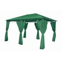 Беседка Лира 3х4, цвет зеленый, на 6 опорах